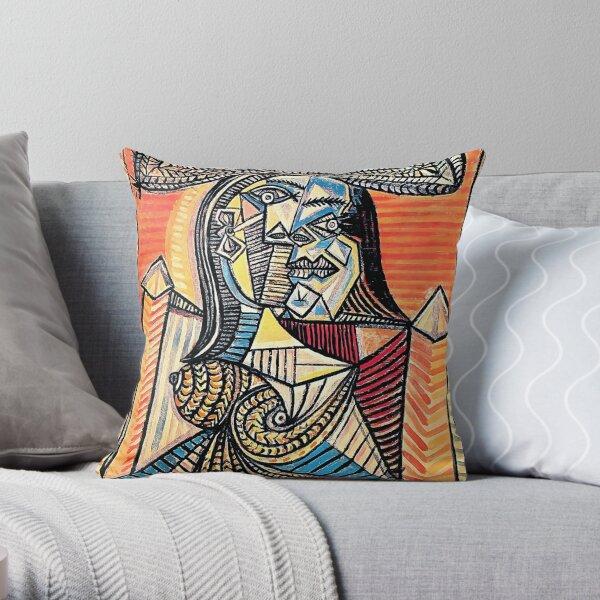 Pablo Picasso - femme au chapeau - oeuvre de 1962 pour l'art mural, estampes, affiches, t-shirts, hommes, femmes, enfants Coussin