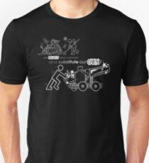 We Reject Your Cannon (Black/White Version) Unisex T-Shirt