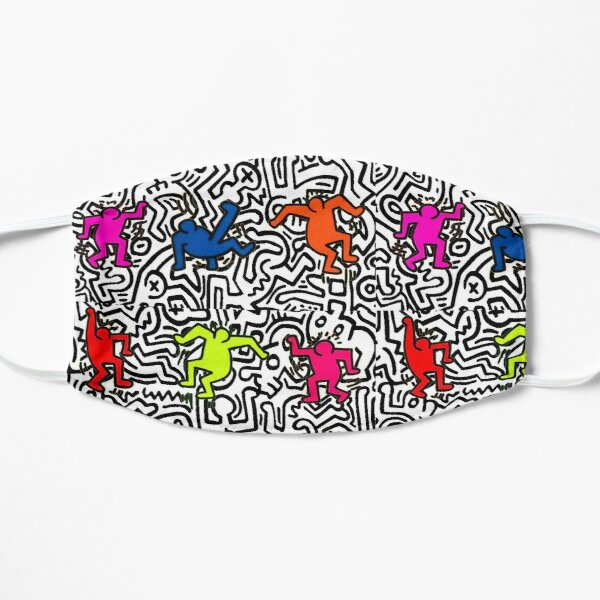 dancing colors Flat Mask