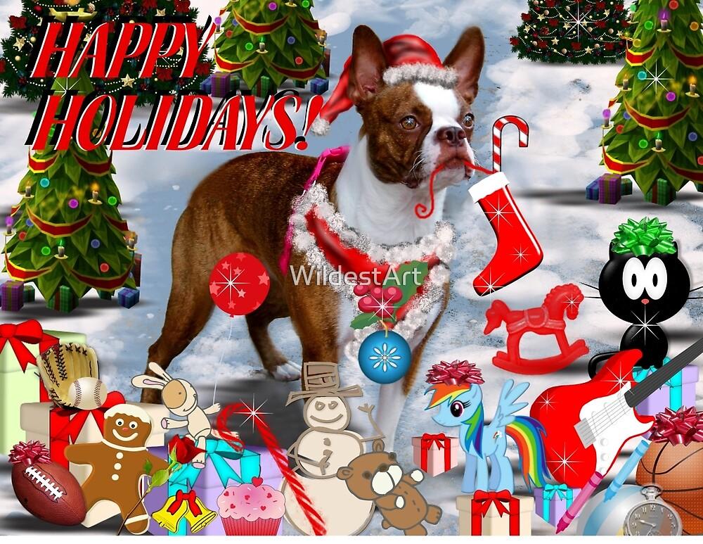 The Santa Dog by WildestArt