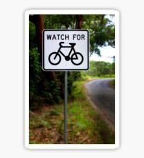 Watch for Bikes Sign Sticker