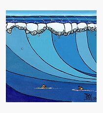 Classic Wave Series ~ Eddie and Jeff Paddle Out Photographic Print