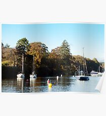 Yachts on Windermere Lake Poster