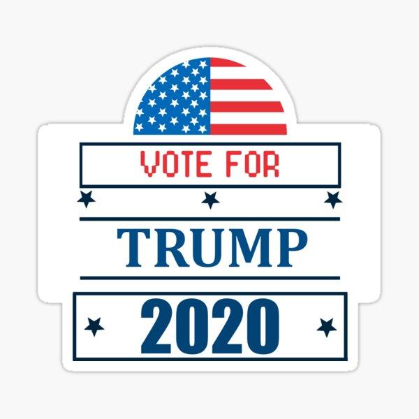 Vote For President Donald Trump 2020 Sticker