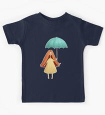 Girl jumping with umbrella Kids Clothes