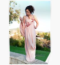 Dress in the ancient Greek style Poster