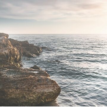 Ocean (Rocks Within the Misty Blue) by TerriEllisPhoto
