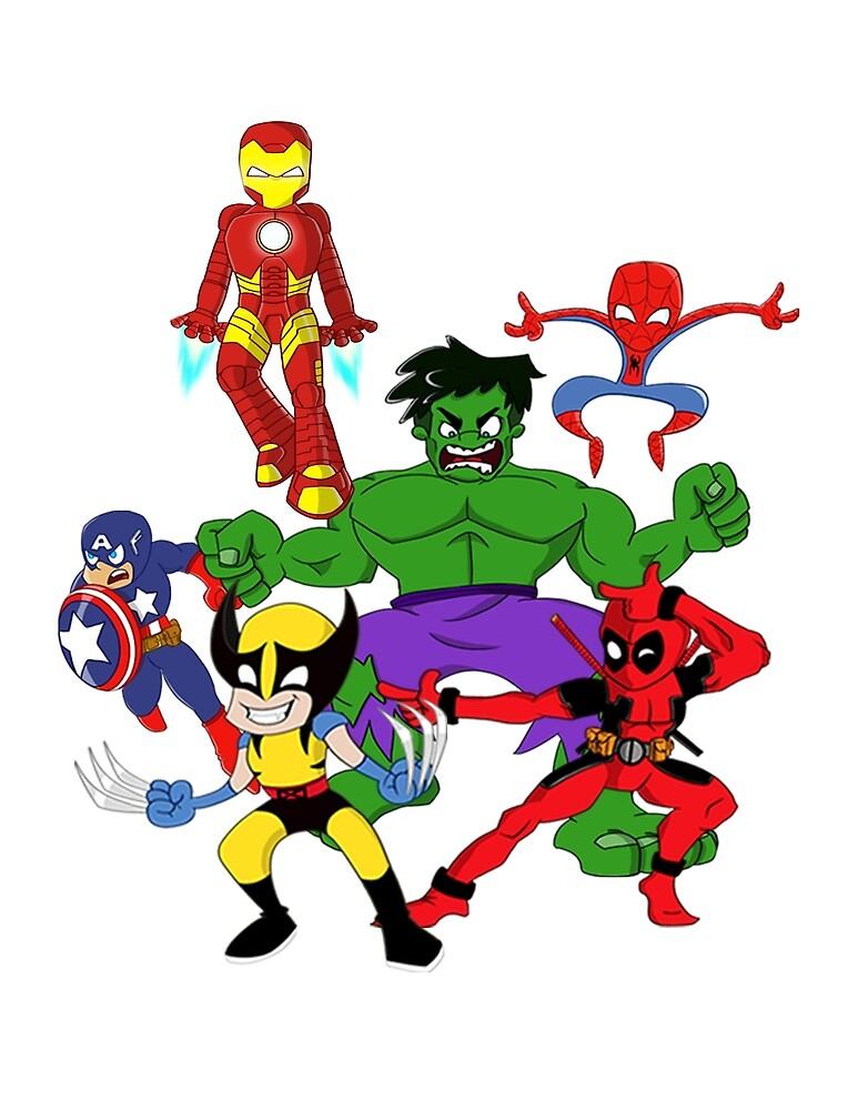 super hero mayhem by Nurzart