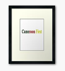 Cameroon First  Framed Print