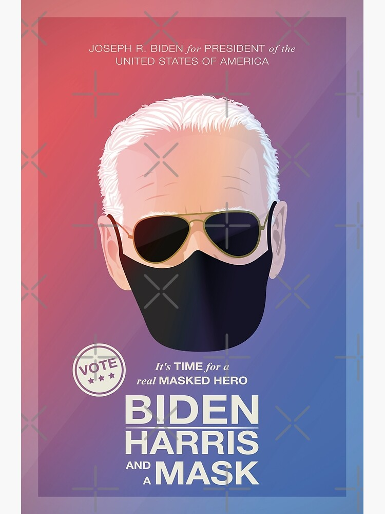 BIDEN HARRIS and a MASK (red) by PopArtClub