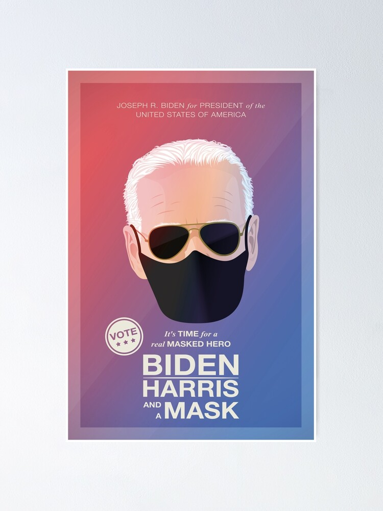 Alternate view of BIDEN HARRIS and a MASK (red) Poster