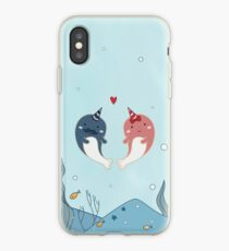 Cute Narwal Couple iPhone Case