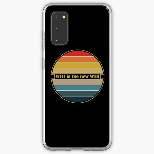 Working from home Wfh is the new wth retro design Samsung Galaxy Soft Case
