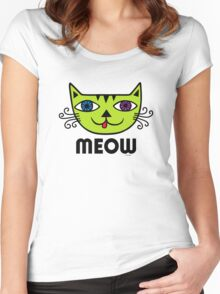 Meow Cat multi Women's Fitted Scoop T-Shirt