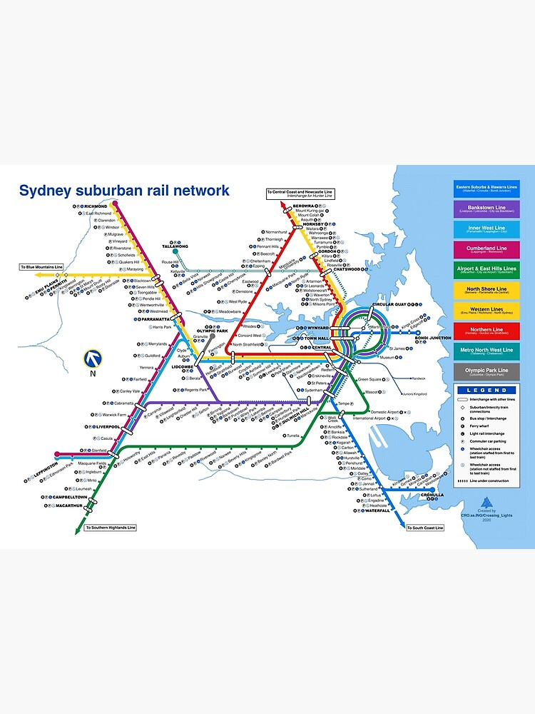 Sydney Suburban Railway Diagram - 2000 Style by CrossingLights
