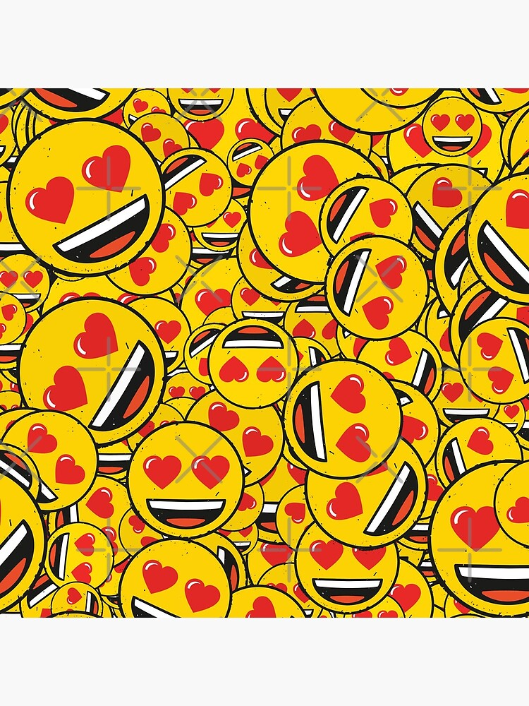 smiling face with heart eyes pattern by royrahul