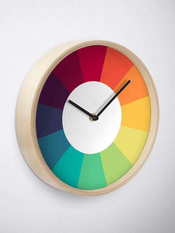 Alternate view of Colour Wheel Clock