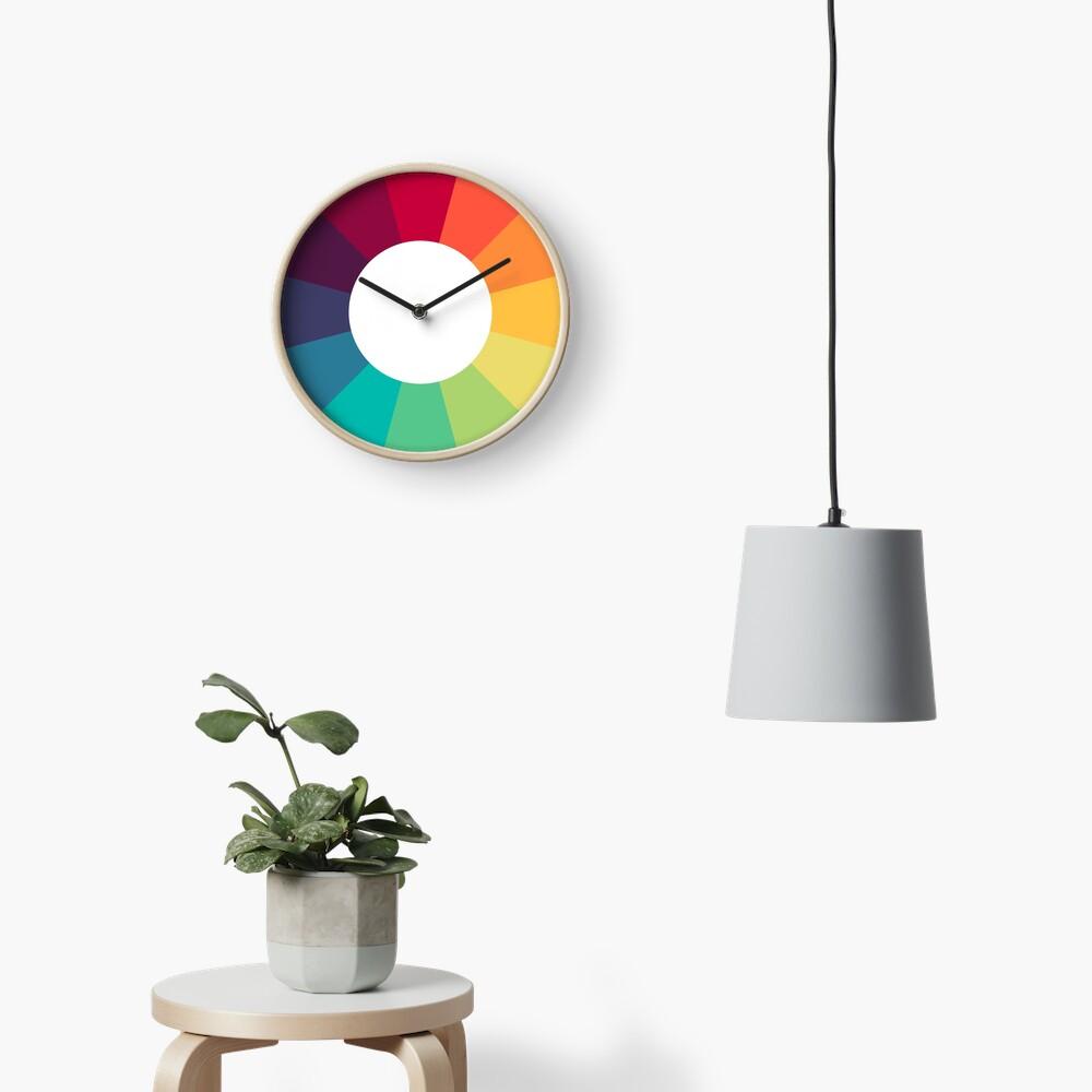 Colour Wheel Clock