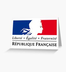 Symbol of the French Government  Greeting Card