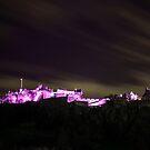 Edinburgh Castle Lit Up by Sue Fallon Photography