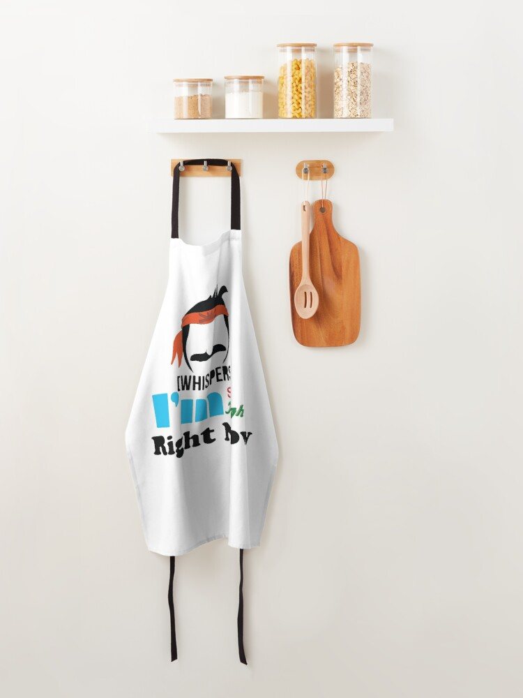 Alternate view of Bob is so high right now sticker  Apron