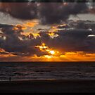 Sunset over the North Sea.  by imagic