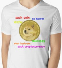DogeCoin Tee with phrases Men's V-Neck T-Shirt