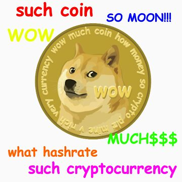 DogeCoin Tee with phrases by madewithcoffee