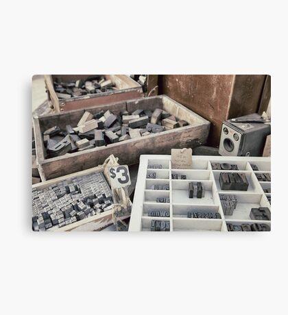 Old letterpress stuff Canvas Print