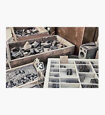 Old letterpress stuff Photographic Print