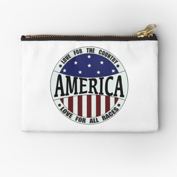 November election anti racism political stars and stripes Zipper Pouch
