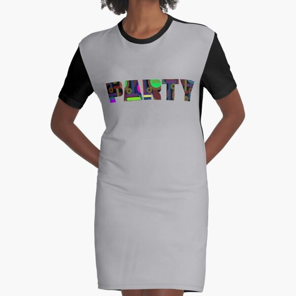 PARTY Graphic T-Shirt Dress