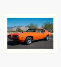 "1969 Pontiac GTO ""The Judge"" Art Print"