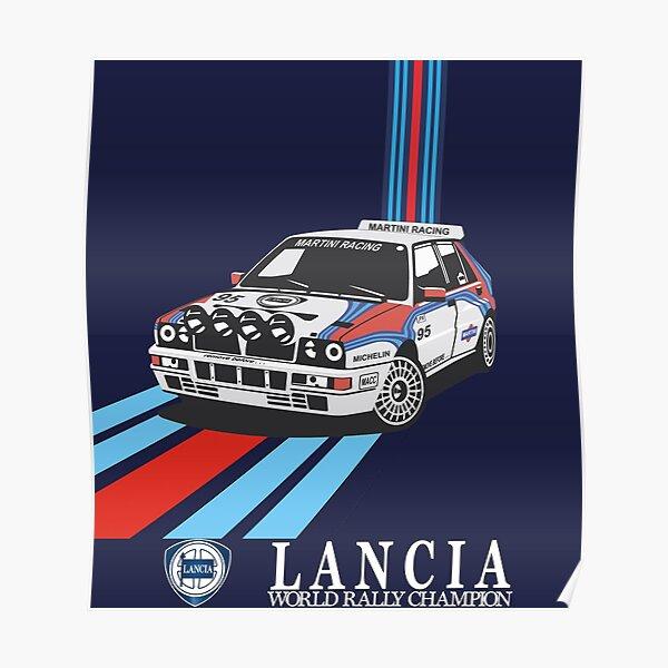 Rallye-Weltmeister von Lancia Martini Racing Poster