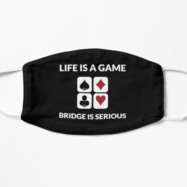 Play Cards Bridge game Addict Fan Player Gamer Gift Flat Mask