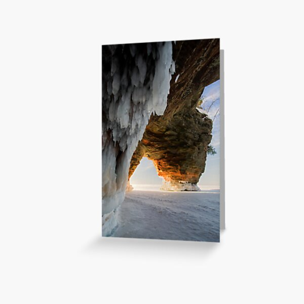 Ice and Fire, Apostle Islands, WI Greeting Card