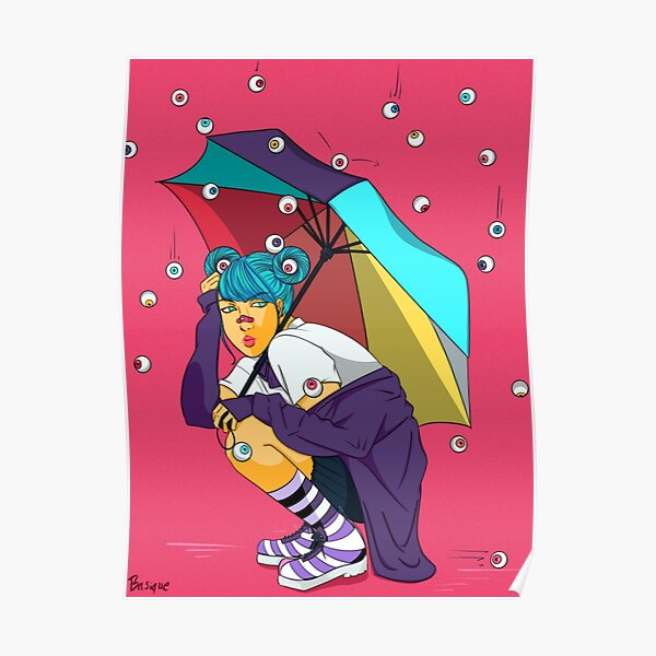 Eyeball Rain Poster