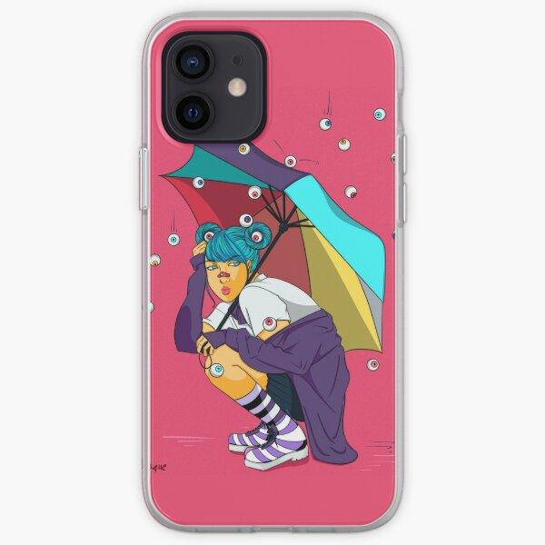 Eyeball Rain iPhone Soft Case