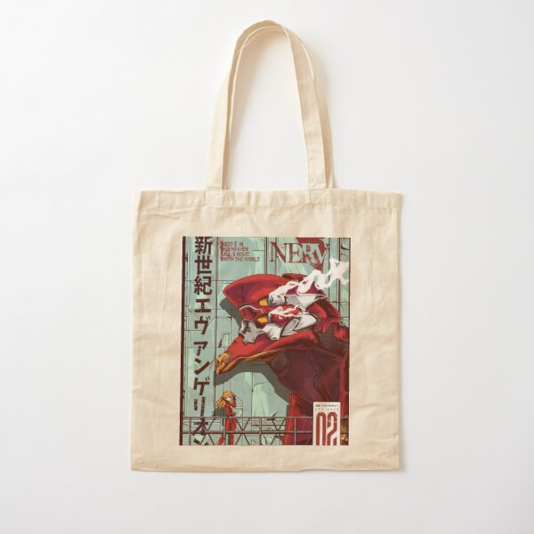 Evangelion Unit 2 Artwork Cotton Tote Bag