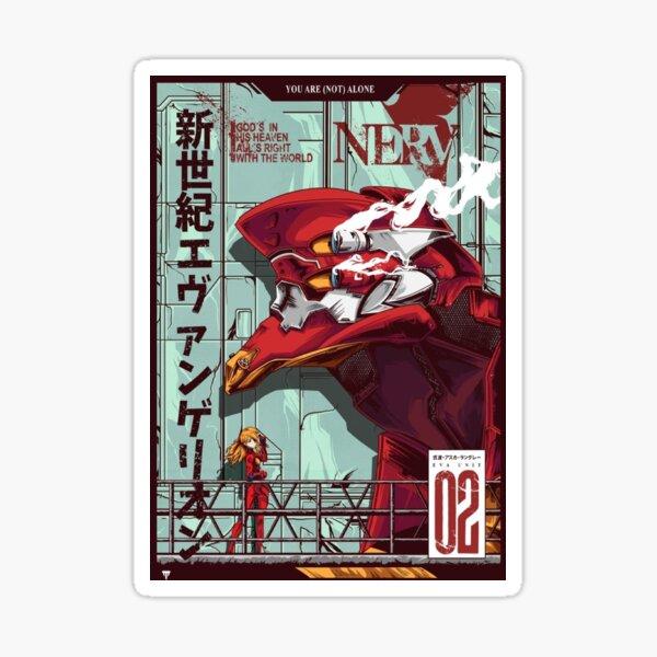 Oeuvre d'Evangelion Unit 2 Sticker