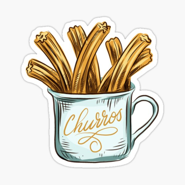 Cute Cup of Churros Sticker
