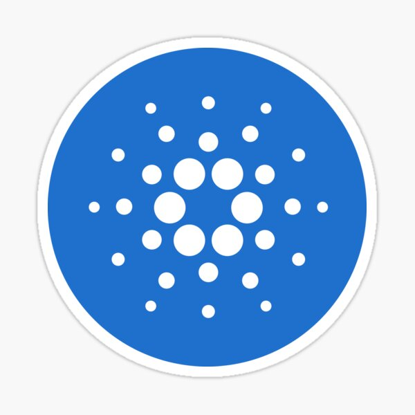 Cardano ADA Light Blue Circle Logo Sticker