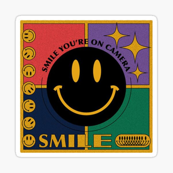 retro smile you're on camera  Sticker