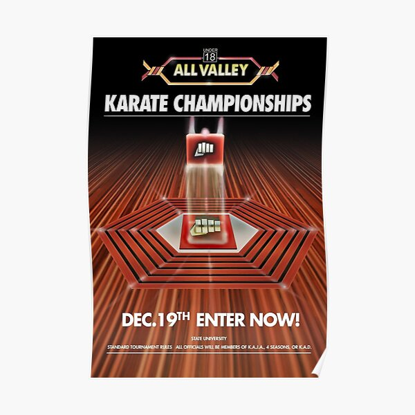 All Valley Karate Poster
