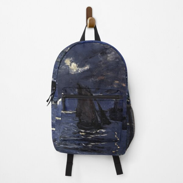 Seascape, Shipping by Moonlight, Claude Monet Backpack