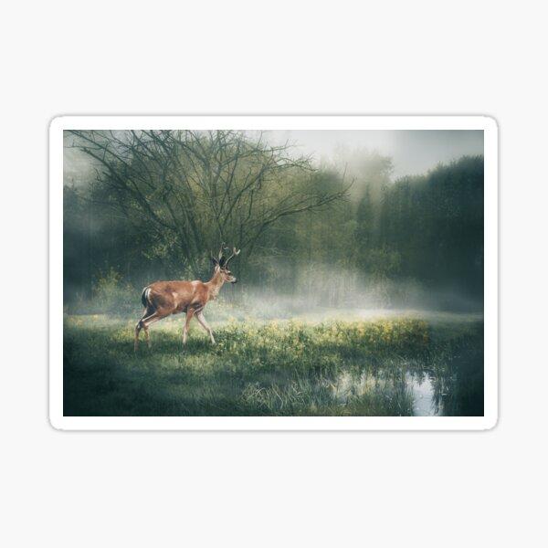 Deer in the Mist Sticker