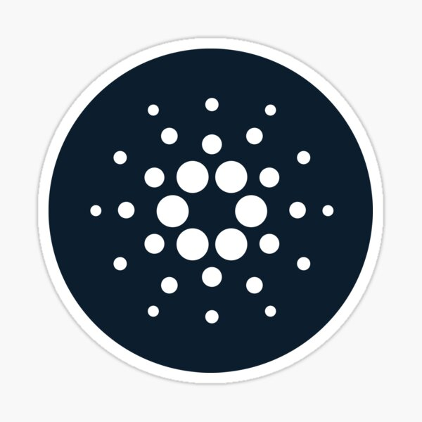 Cardano ADA Dark Blue Circle Logo Sticker