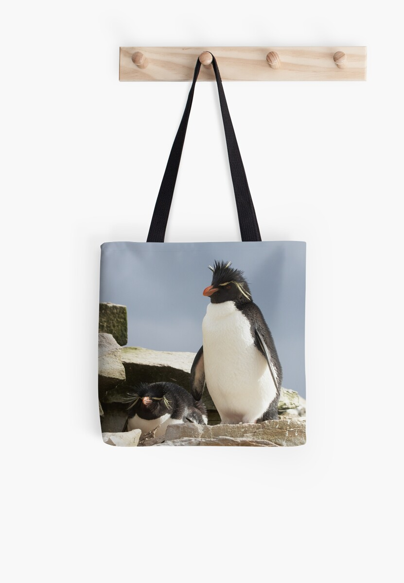 """Rockhopper Penguins ~ """"Welcome to our home"""" by Robert Elliott"""