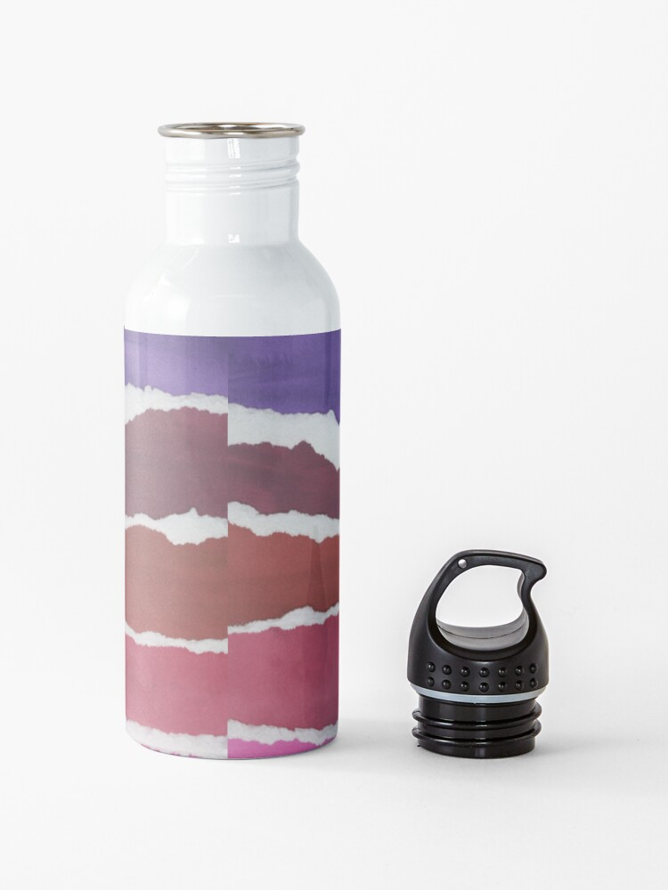Alternate view of Sunset Night Sky Gouache Painting Collage Water Bottle