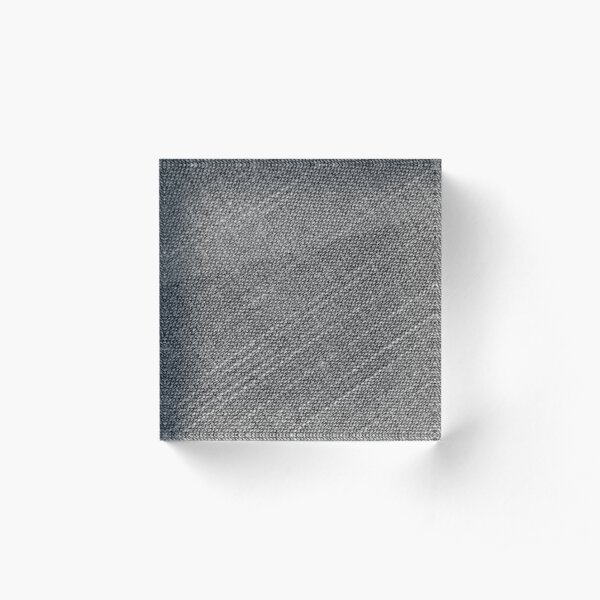Grey Fabric Texture Acrylic Block